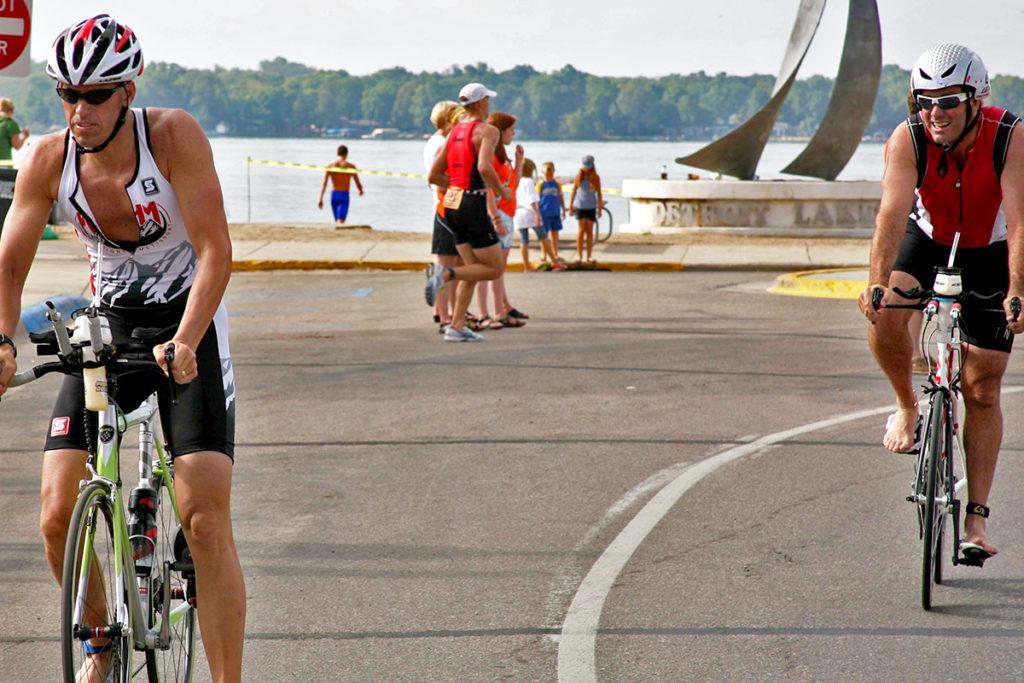 Bike leg of a triathlon